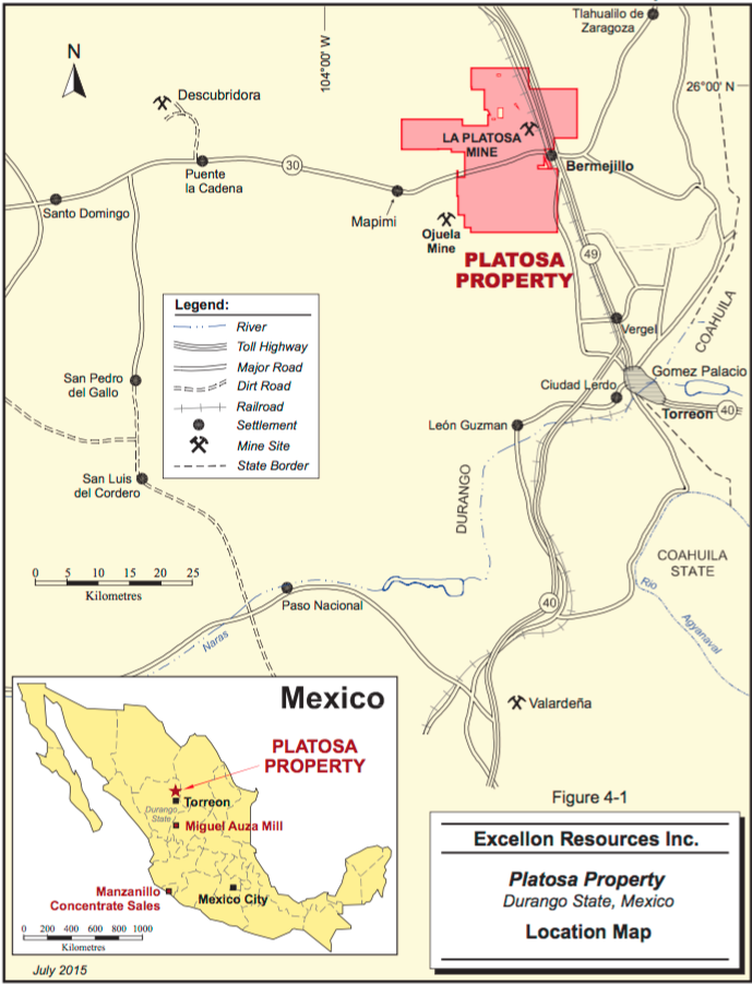 La Platosa Property Map